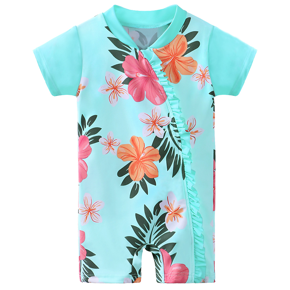 BAOHULU Print Swimwear Baby Girls UPF50+Children Swimwear Infant Toddler Swimsuit Kids One Piece Bathing Suit Surfing Suits
