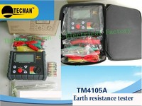 TECMAN genuine ground resistance tester  Earth resistance tester/megohmmeter TM4105A 2000 OHM 200 VOLT meter