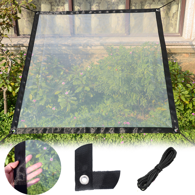 Greenhouse Plastic Garden Mulch Film Balcony Fleshy Insulation Antifreeze Anti-bird Thick Plastic Film Windshield Rainproof