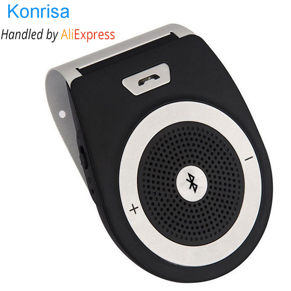 Bluetooth Car Kit Freisprecheinrichtung Noise Cancelling Bluetooth V4.1 Receiver Freisprecheinrichtung Multipoint Clip Sonnenblende für zwei Telefone