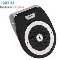 Bluetooth Car Kit Handsfree Noise Cancelling Bluetooth V4 1 Receiver Car Speakerphone Multipoint Clip Sun Visor