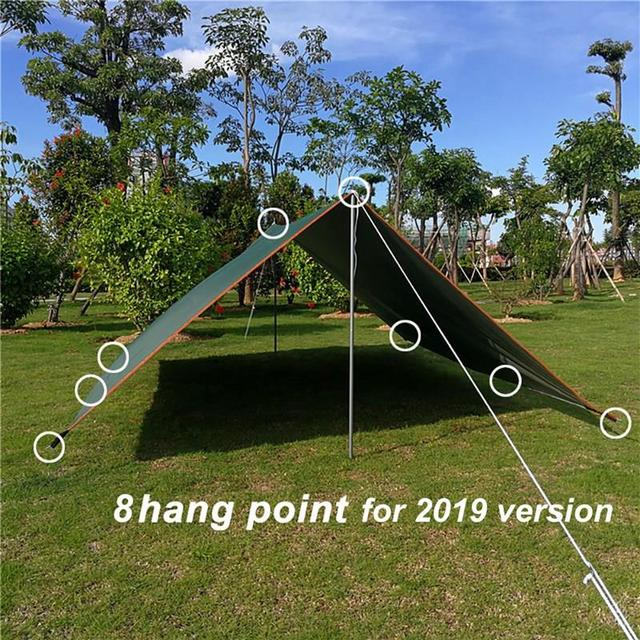 Top Lander Beach Sun Shelter Tarp Waterproof Tent Shade Ultralight Uv Garden Awning Canopy Sunshade Outdoor Camping Hammock Ra 6