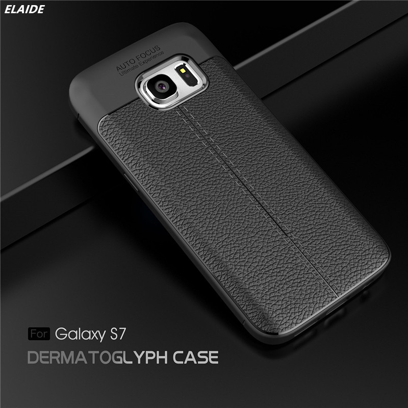 For Samsung Galaxy S7 S7 Edge Carbon Fiber Silicon Leather Texture Case Shockproof Back Cover for Samsung S7 Case S7 edge Cases