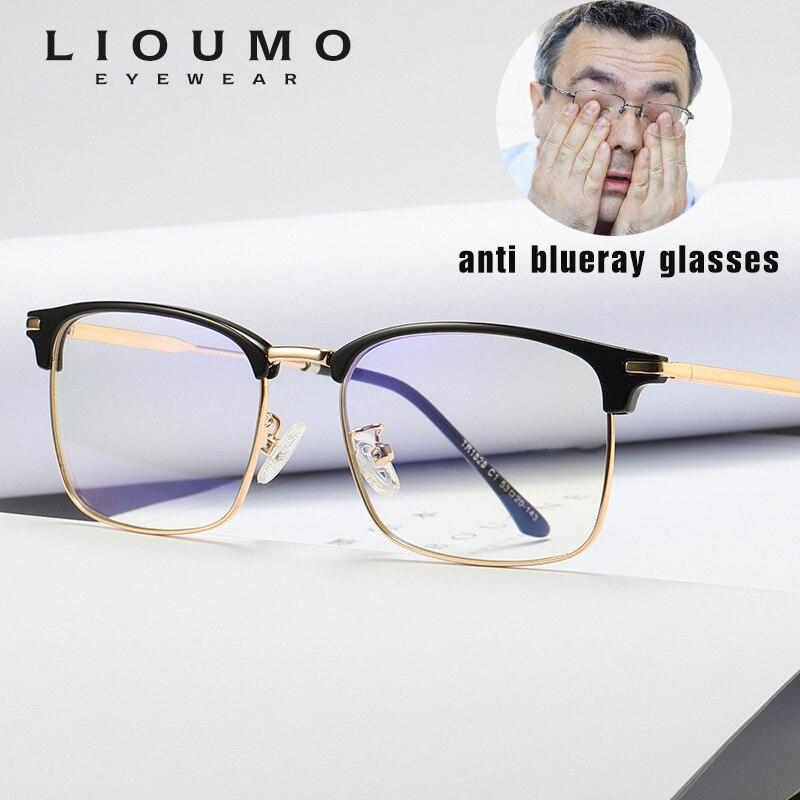 100% QualitäT Lioumo Titan Legierung Gläser Rahmen Männer/frauen Ultraleicht Marke Designer 2019 Männlichen Semi-randlose Brillen Optische Rahmen Brillen