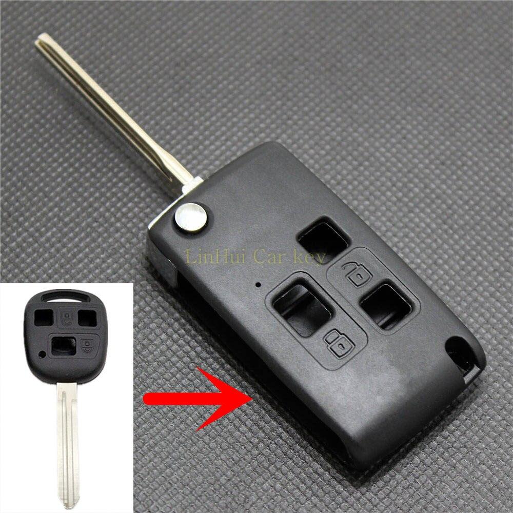 Piña para gran muralla FLORID CROSS HAVAL M4 HOVER 3 botones Uncut latón Blade modificado remoto Shell clave en blanco 1 unid