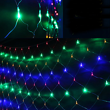 New Year 1.5x1.5m AC220V LED Christmas Lights Garlands Decoratives LED String Net Lights Cristmas Decro Luces De Navidad