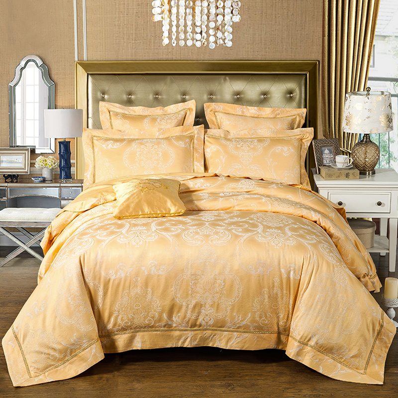 jacquard design in warm stylish comforter set elegant bedding set luxury cotton 60s 300 thread