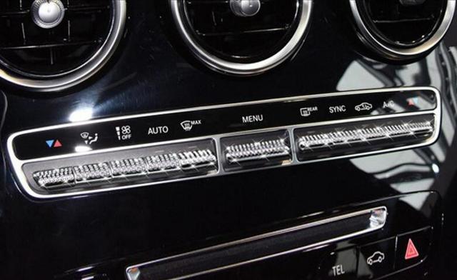 1 Set Rhinestone Car Interior Central Control Air Conditioner Button Switch Cover  Trim For Mercedes Benz C180L GLC E200L E300L 5aef77117d2b