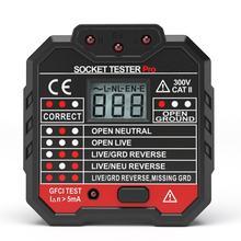EU/US розетка тестер ЖК-дисплей Дисплей Напряжение тестер с розеткой детектор Ground Zero линии Разъем полярности фазы проверьте GFCI/тестер rcd
