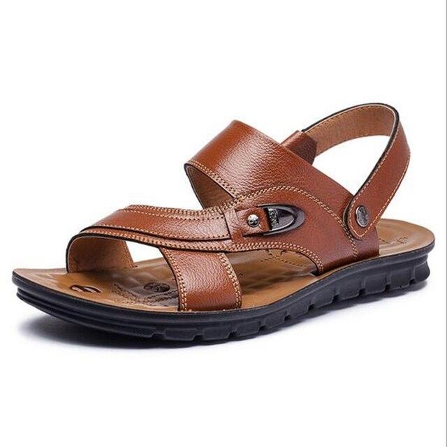 Playa 38 Sandalias De 45 Tejido Zapatilla Moda Tamaño A Hombre Cuero Pn80kXZNwO