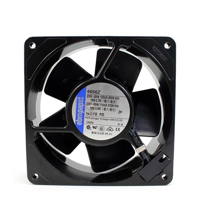 Nouveau original 4656Z 12038 230 V 19 W tout métal haute température ventilateur