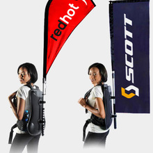 Free Shipping Backpack Advertising Flag/Walking Billboard/Flag Banner/Custom Flag/Printing Both Sides