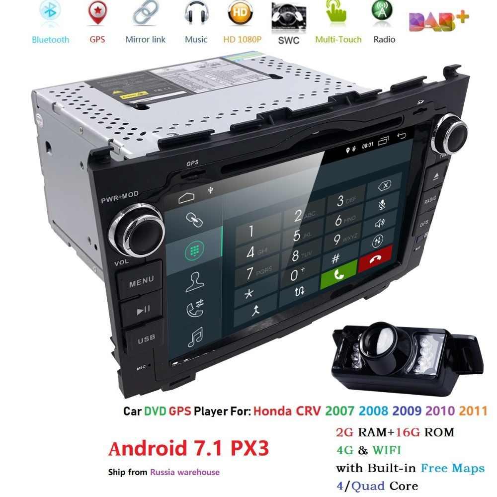"""Автомагнитолы мультимедийный плеер 2 din 8 """"Android 7,1 для автомобиля, DVD Радио навигации для Honda CRV 2006-2011 стерео Wi-Fi Нави gps PX3 OBD2"""