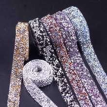 Self-Adhesive Rhinestone Applique Strass Hotfix Rhinestones For Clothes Trim Tape Applicator Crystal Jewelry Ribbon