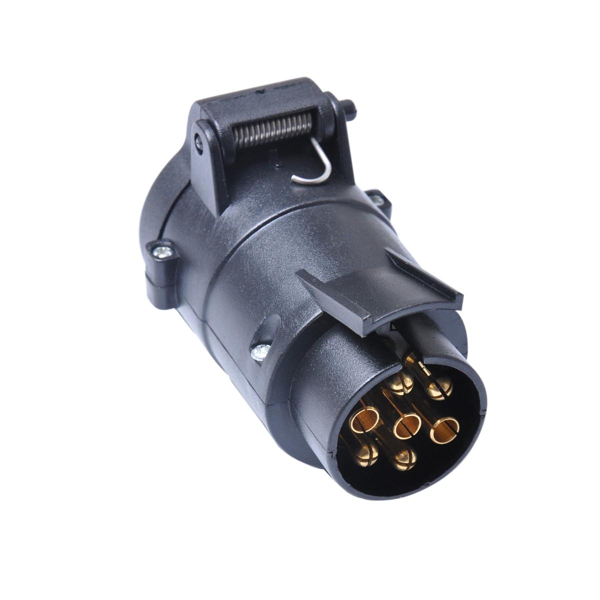 Sodial R 7 Pin Trailer Plug Pole Wiring Connector 12v Towbar Socket