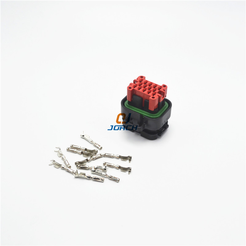 14 pin Tyco AMP Waterproof Female Sealed Automotive Wire Car Connector 776273-1 with Crimp terminals 770520-1 1 set 18 pin 344106 1 female and male plastics copper 18 way tyco te amp auto waterproof connector