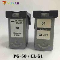 Vilaxh PG 50 CL 51 ink cartridge for Canon PG50 CL51 PG 50 Pixma MP150 MP160 MP170 MP180 MX300 MP450 MP460 IP2200