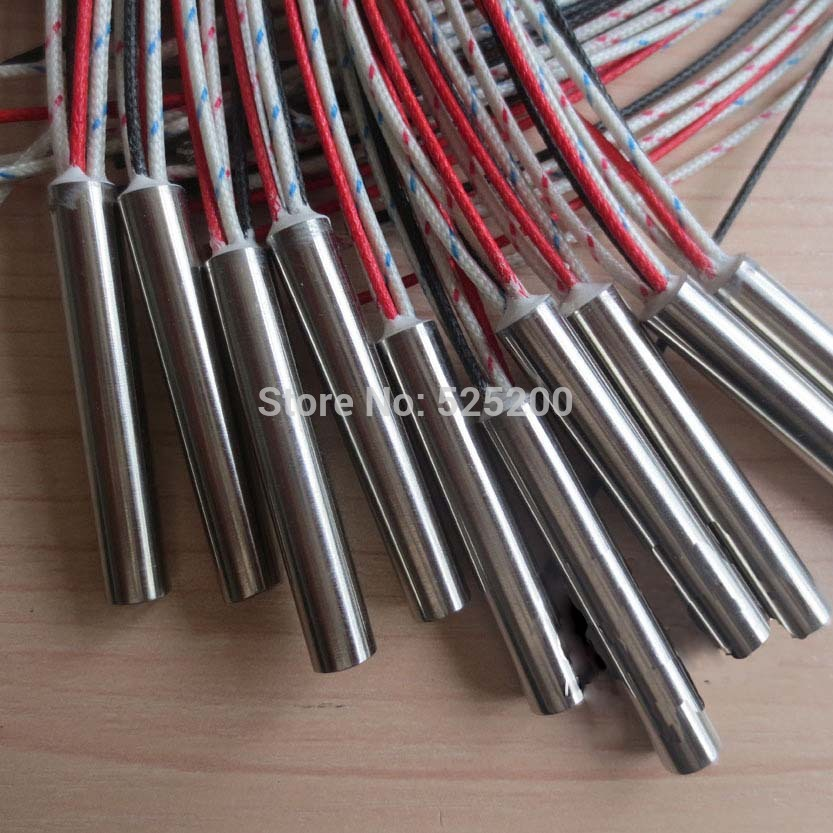 4pcs Dia.10mm,Length80mm,48V250W,With Thermocouple Type K,Heater Cartridge,Heating Cartridge,Swaged in lead wire quisisana rimini 3 римини