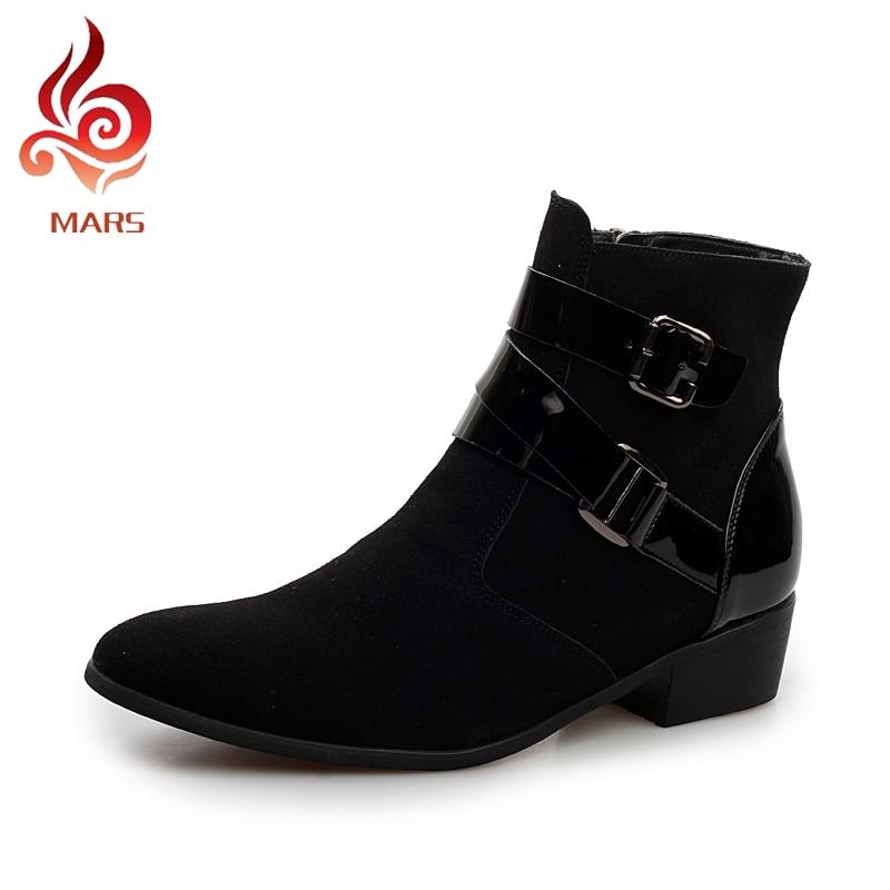ФОТО Boots 2017 Men Shoes Winter Boots Fashion Suede Shoes Men Comfortable Warm Ankle Boots Martin Boots Men Size:39-44 JL5512-1