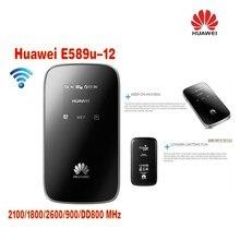 Открыл Huawei e589u-12 4 г LTE FDD Беспроводной мобильного Wi-Fi Модем Широкополосный Маршрутизатор плюс антенна