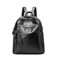 Для женщин Рюкзаки Пояса из натуральной кожи женский рюкзак Школьный Сумка подростковая модная одежда для девочек Сумки черный