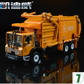 Sanitation trucks Garbage trucks 1:24 car model diecast alloy origin kids toy KDW 625040 620040 Trailer Kaidiwei gift boy