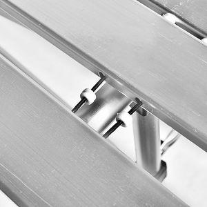 Image 3 - חיצוני קמפינג שולחן אלומיניום מתקפל מנגל שולחן עבור 4 6 אנשים מתכוונן שולחנות נייד קל משקל פשוט גשם הוכחה שולחן