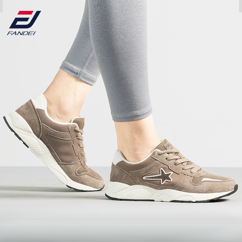 FANDEI Sport En Plein Air Chaussures de Course Femmes Velevt Fourrure Femmes Rétro Sneakers Sport Chaussures de Marche En Daim Chaussures De Jogging En Cuir