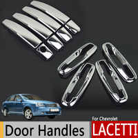Chrome Exterior Door Handles Covers For Chevrolet Lacetti Optra Daewoo Nubira Suzuki Forenza Holden Viva Stickers Car Styling