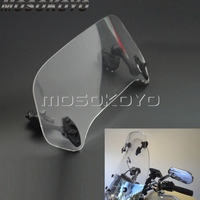 Universal Adjustable Screen Clear Smoke Extension Windscreen Windshield Spoiler Air Deflector for Scooter Triumph Honda VTX Tour