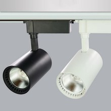 High Power 20W/30W COB LED rail light  spot ceiling track 85~265V/AC White Shell/ Black shell