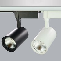 High Power 20W/30W COB LED rail light LED rail spot light ceiling LED rail track light 85~265V/AC White Shell/ Black shell