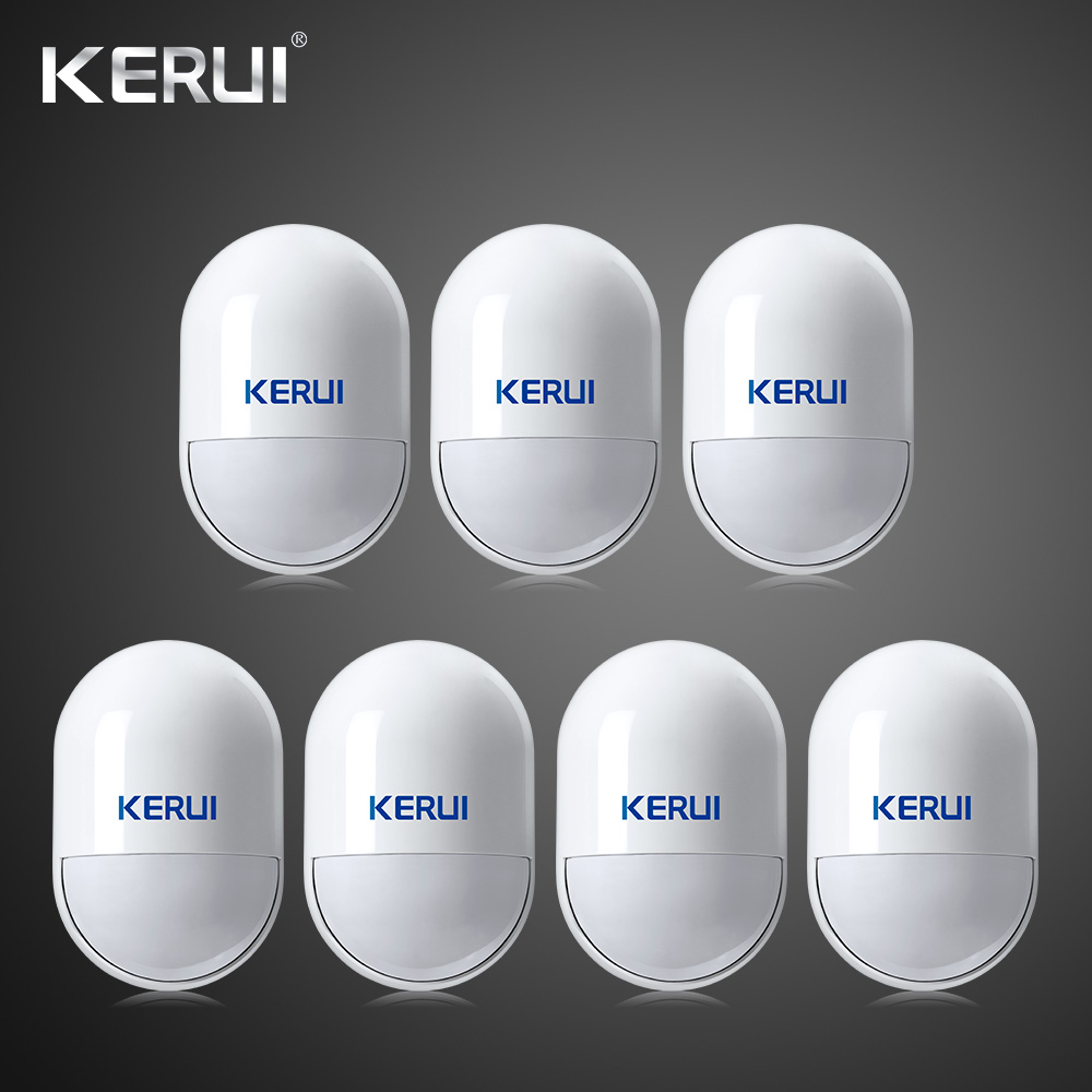 7pcs lot Intelligent Wireless High Quality PIR Motion Sensor Anti tamper Detector For GSM Home Security
