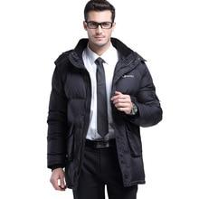 Men'S Long Down Coat White Duck Winter Jacket Men Thick Long Sleeve Outwearing Mens Winter Parka With Fur Hood Wjm22 CC
