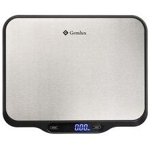 Весы кухонные GEMLUX GL-KS15 (ЖК-дисплей, максимальная нагрузка 15 кг, автоотключение для экономии заряда батареи, сброс веса тары, сенсорное управление)