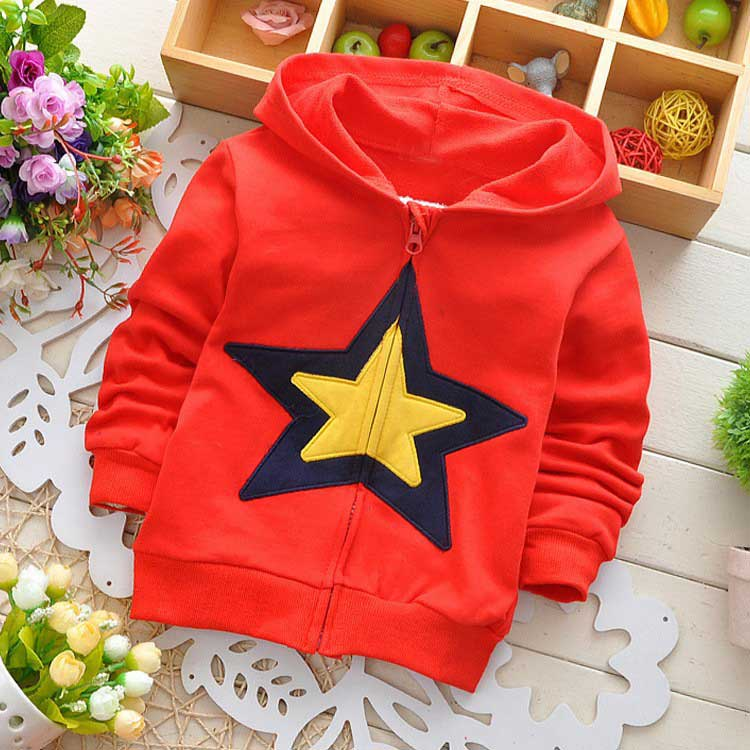 New Autumn Kids Baby Girls Boys cartoon Little Star Children's Jackets Cardigan Outwear Coats Hoodies Y1322