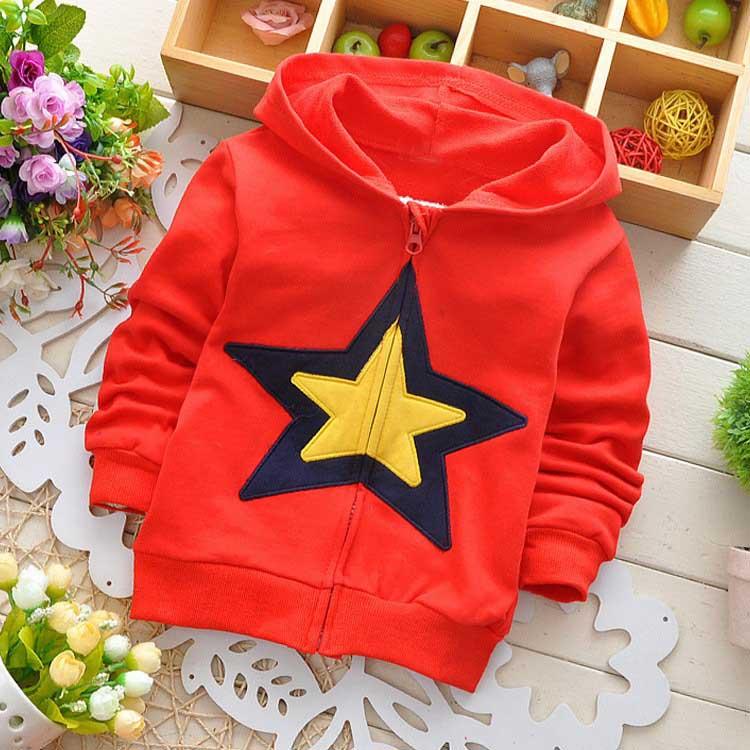 New Autumn Kids Baby Girls Boys cartoon Little Star Children's Jackets Cardigan Outwear Coats Hoodies Y1322