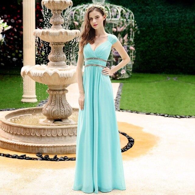 Ever Pretty Evening Dresses Ep08697 Women S Beautiful Elegant Y White V Neck Long Prom