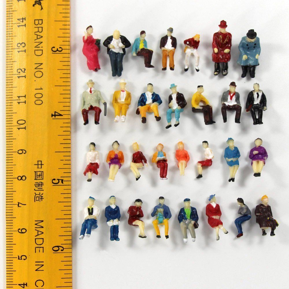 Toys 50 seats ratio 1 87 miniature doll model statue landscape can collect children 39 s toys in Model Building Kits from Toys amp Hobbies