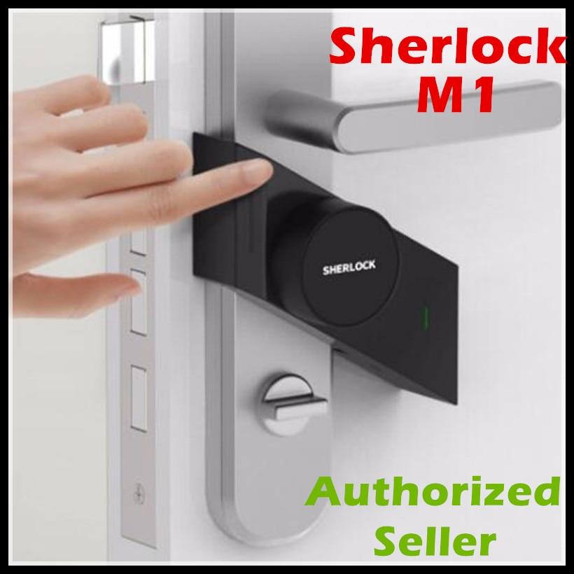 In Stock Xiaomi Sherlock Smart lock M1 mijia Smart door lock Keyless Fingerprint+Password work to Mi home app phone control фото