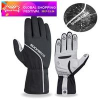ROCKBROS Men Women Cycling Gloves Full Finger Touch Screen GEL Bike Gloves Sport Shockproof MTB Road