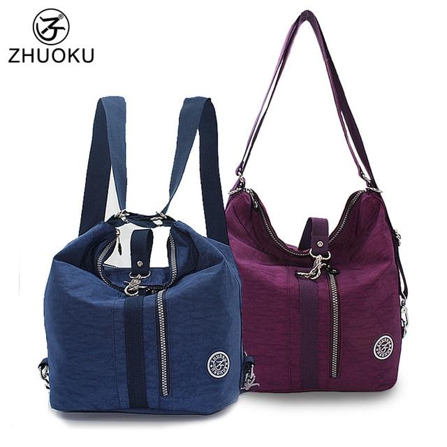 Zhuoku Fashion Waterproof Nylon Women Shoulder Bag Female Messenger Bags For 2018 Woman Handbag Bolsos