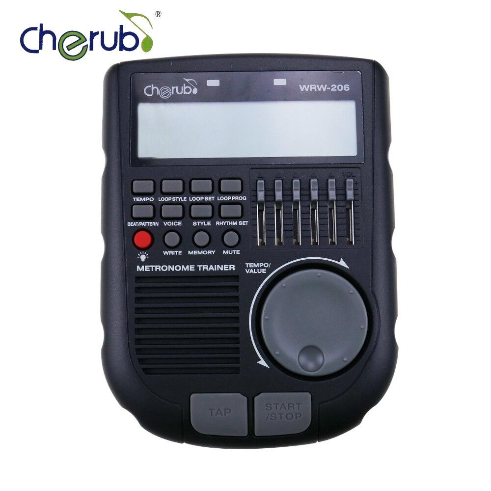 Cherub Portable Multi Function Drum Trainer Metronome Digital Rhythm Editor drummer cherub wrw 106 rhythm trainer drum metronome