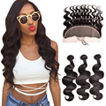7A Malaysian Body Wave With Closure Lace Frontal Closure With Bundles Malaysian Virgin Hair With Closure Human hair With Closure