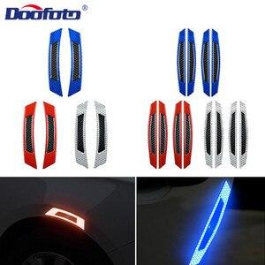 DOOFOTO Автомобильная наклейка светоотражающая лента для бровей, предупреждающая Автомобильная дверь, светоотражающая лента для стайлинга, у...