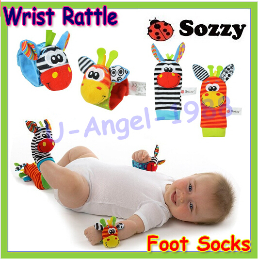 Hot Sale Sozzy Baby Toy Baby Rattles Toys Animal Socks