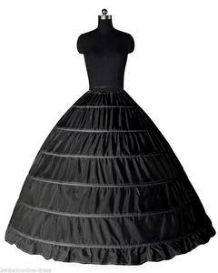 Image 2 - Fast Shipping White/Black 6 Hoops Petticoat Crinoline Slip Underskirt For Wedding Dress Bridal Gown In Stock 2018
