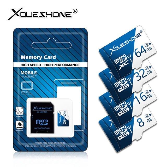 Cartão de Memória de qualidade gb gb gb 64 32 16 8 gb 10 classe Cartão de 128 gb TF cartão micro sd cartao de azul de memoria micro sd com pacote de varejo