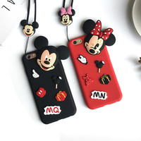 Newest 3D Cartoon Cute Minnie Mickey Mouse Case For IPhone 7 7 Plus 6 6s Plus