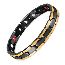 Stainless Steel Bracelet Silver Magnet Far Infrared Anion Jewelry Male and Female Universal